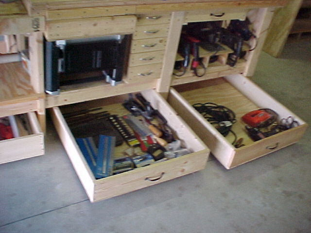 Workbench drawers plans